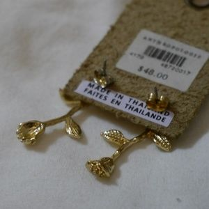 Urban Outfitters Jewelry - Delicate Gold Rose Earrings / Urban Outfitters
